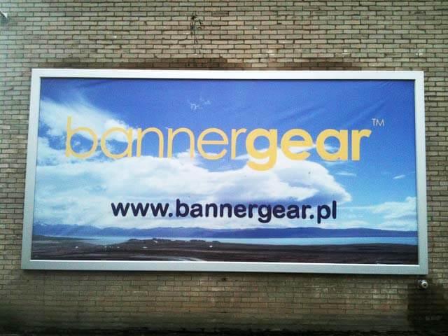 Naścienna rama reklamowa bannergear™ model Wall Slim