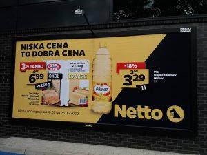 Rama reklamowa model Wall Slim Anodowane czarna rama Reklama Netto Niska cena to dobra cena
