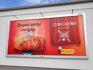 Rama reklamowa naścienna model Wall Slim z podświetleniem