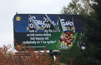 reklama papierowa, reklama banery winylowe