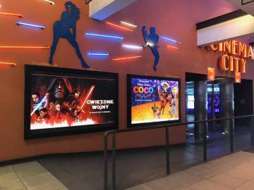 Realizacja bannergear dla Cinema City - model: Wall Slim, podświetlenie bilbordu Back Light