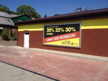 Rama reklamowa bannergear model Wall Slim - reklama na budynki