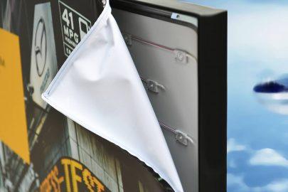 Reklama na tkaninie system Light Box Aluminiowa rama reklamowa