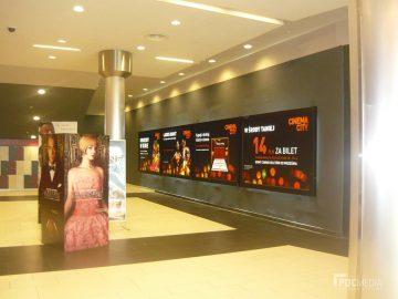 Ramy reklamowe model: Wall Slim, Podświetlenie reklamy - Back Light - Realizacja Cinema City