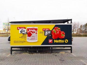 Rama reklamowa supermarket model:Slide System