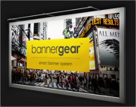 Rama reklamowa naścienna bannergear™ model Wall Slim - oświetlenie Front Light