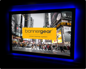 Oświetlenie wewnętrzne reklamy Back Light na Rama bannergear™ model Wall Slim