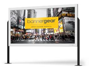 Reklama wolnostojąca-Rama reklamowa bannergear™ model Free Slim